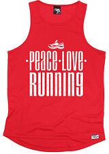 Peace Love Running MENS DRY FIT VEST birthday gift birthday gift running runner