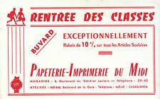 Buvard Vintage  Papeterie  Imprimerie du Midi Casablanca