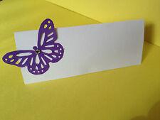 50 Cadbury's Purple Butterfly Nozze Luogo Nome Carte Con Gemma