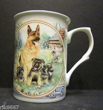 Alsatian Dog By Mellor Fine Bone China Mug Cup Beaker