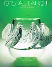 PUBLICITE  1976   CRISTAL  LALIQUE   vase VAGUES