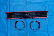 GTI Grill Frontgrill VW Golf 1 Cabrio Caddy Jetta 1 Kühlergrill Rippengrill Rot