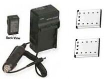 2 Batteries+ Charger for Fuji FujiFilm JX400 JX405 JZ300 JZ310 JZ305 JZ500 JZ505