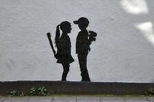 QUALITY BANKSY ART PHOTO PRINT (BOY AND GIRL) NOT CANVAS