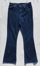 LL BEAN Women's Dark Blue Stretch Classic Fit High Waist Flare Leg Jeans 10 12