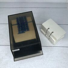Vintage Rolodex Box Model VIP 24C Replacement Cards Included
