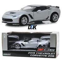GREENLIGHT 18256 2019 Chevrolet Corvette Z06 Silver Metallic Diecast Car 1:24
