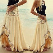 Women's Gypsy Boho Skirt Maxi Summer Beach Crochet Long Casual Skirt Beach Dress