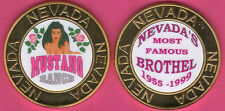 World Famous MUSTANG RANCH Nevada Metal Cathouse  Whore House GOLD TOKEN