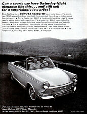 Auto Union DKW F12 Roadster AUDI Cabriolet SATURDAY NIGHT ELEGANCE 1964 Print Ad