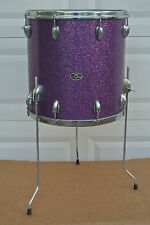 "RARE 70's SLINGERLAND 3-PLY 16"" PURPLE SPARKLE FLOOR TOM to YOUR DRUM SET! #V722"