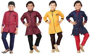 Indian Traditional Boys Kurta Pajama Set Wedding Party Wear Ethnic Dress Kids