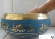 beautiful sect Buddhism Cuprum Mantra Singing Bowl 9 cm
