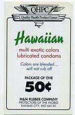 vtg condom machine decal sticker vending NOS Hawaiian Multi Colored 50 cent