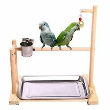 New listing Birdcage Stands Parrot Play Gym Wood Conure Playground Bird Cage Stands