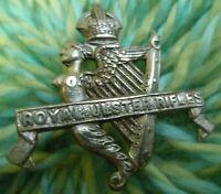 Royal Ulster Rifles Cap Badge WM 2 Lugs 36 mm Antique ORIGINAL