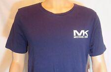 Men's MICHAEL KORS L LARGE 42-44 Night BLUE Sleepwear Cotton T-shirt 102545