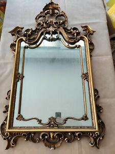 Specchio antico, fine 800/inizi 900 in stile barocco, dorato. Dimensione grande