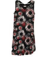 Virtuelle womens Tunic dress XS plus Fit 14 red black lagenlook Taking Shape