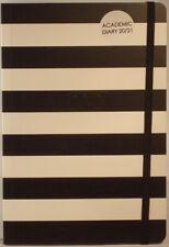 A5 2020 / 21 Academic diary black & white stripes 21cm x 14.5cm week to view