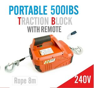 Brand new 250kg Traction Block Portable Winch Traction Hoist with Remote Control