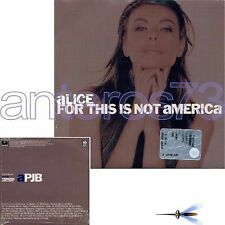"""ALICE """"FOR THIS IS NOT AMERICA"""" CDsingolo PROMO - DAVID BOWIE"""