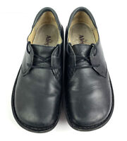 Alegria Shoes Bree 37 Black Leather Lace Up Nursing Comfort Oxford Style