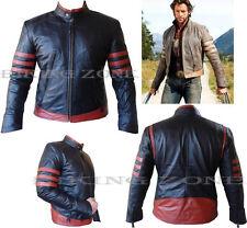 X-Men Wolverine Stile Uomo Nero/Rosso Moda di Qualità Analene Giacca di Pelle