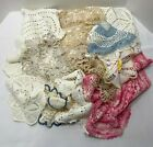 Lot+of+13+handmade+Crocheted+lace+vintage+doilies+