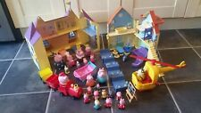 Peppa Pig & Friends Toy Bundle Family House, Castle, Helicopter, Train, School