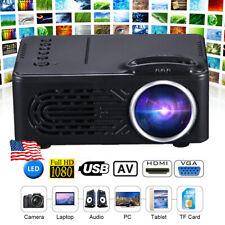 1080P HD LED Mini Projector Full HD Moive Home Cinema Theater Multimedia USB TF