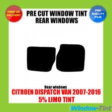 CITROEN DISPATCH VAN 2007-2016 5% LIMO REAR PRE CUT WINDOW TINT
