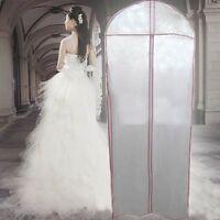 Hot 180cm Long Wedding Dress Bridal Gown Garment Cover Storage Bag Carrier Zip