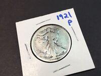 1921-P  Rare Silver Walking Liberty Half Dollar-1 Coin-