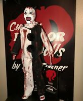 Art the Clown CUSTOM HORROR DOLL Terrifier Bloody Version OOAK 12 Inch Figure