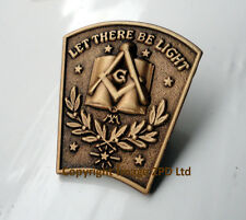 ZP225a Masonic Masons lapel pin Geometry Compass Freemason Let There Be Light
