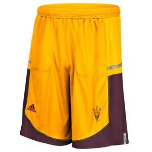 Arizona State Sun Devils NCAA Adidas Men's Gold Climalite Team Shorts