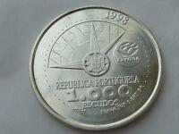 1000 escudos d Plata Portugal 1998, pesa 27 grs. Año internacional d los oceanos