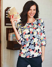 Boden Hip Length 3/4 Sleeve Floral Tops & Shirts for Women