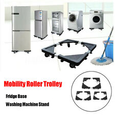 Washing Machine Fridge Stand Appliance Wheel Adjustable Trolley Roller  U