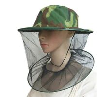 Men Women Outdoor Camping Mosquito Bee Net Mesh Head Face Mask Protector Cap Hat