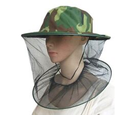 Men Women Outdoor Camping Mosquito Bee Net Mesh Head Face Mask Protector Cap Hat