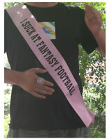 Fantasy Football Loser Pink Sash Last Place Award for Leagues I Suck at Fantasy