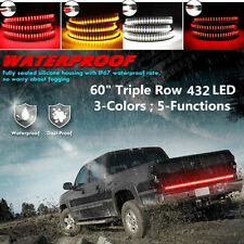"60"" Triple Row 432LED 3 Colors Tailgate Light Bar Flowing Turn Signal/Brake/DRL"