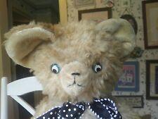 Huge Antique Vintage Artsilk German Teddy Bear Googly Eyes 24in Guc+