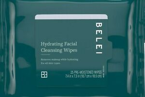 Belei Hydrating Facial Cleansing Makeup Removing Wipes Alcohol Fragrance Fr 25ct