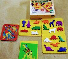 Discovery Toys Place & Trace Set 1990, Colrforms Dinosaur Stencils, Dinosaur Set