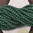 New 50pcs 6mm Round Glass Loose Spacer Beads Jewelry Findings Deep Green