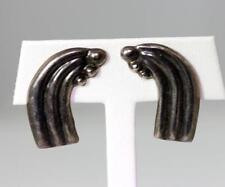 Screw-Back Earrings 1.25� – 10022 Vintage Mexico Taxco Artisan Created