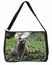 Racoon Lemur Large Black Laptop Shoulder Bag School/College, ARL-1SB